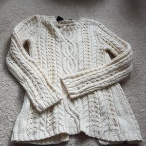 NWOT Girls Max Studio Openwirk Cable Knit Sweater